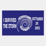 Huracán Sandy Rectangular Pegatinas