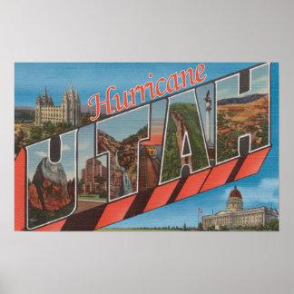 Huracán, Utah - escenas grandes de la letra Póster