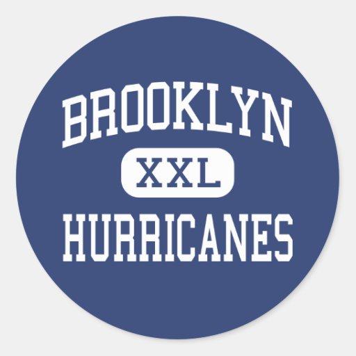 Huracanes Brooklyn media Ohio de Brooklyn Etiqueta Redonda