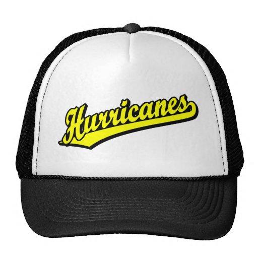 Huracanes en amarillo gorras de camionero
