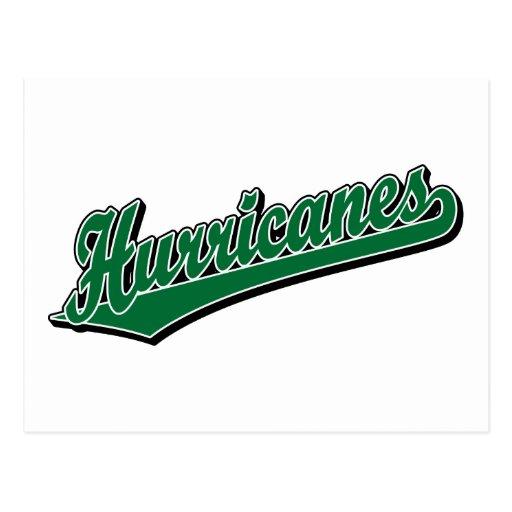 Huracanes en verde postal