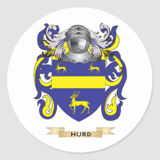 Hurd Coat of Arms (Family Crest) Classic Round Sticker