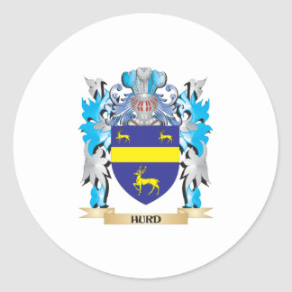 Hurd Coat of Arms - Family Crest Classic Round Sticker
