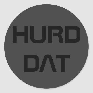 HURD DAT CLASSIC ROUND STICKER
