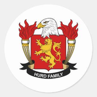 Hurd Family Crest Classic Round Sticker