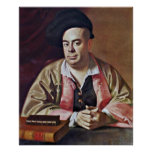 Hurd-retrato de Nathaniel de John Singleton Copley Poster