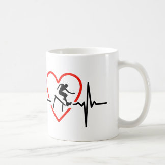 Hurdle heartbeat design coffee mug