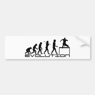 Hurdle Track and Field Sport Evolution Art Bumper Stickers