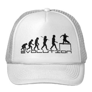 Hurdle Track and Field Sport Evolution Art Mesh Hats