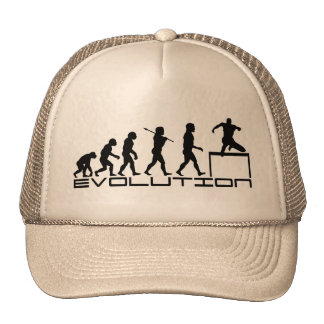 Hurdle Track and Field Sport Evolution Art Trucker Hat