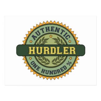 Hurdler auténtico postal