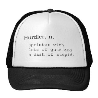 Hurdler, n. trucker hat