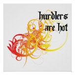 Hurdlers Are Hot Poster