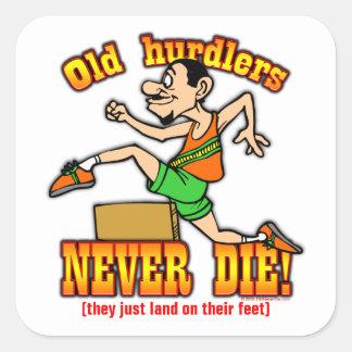 Hurdlers Square Sticker