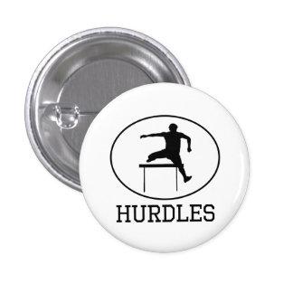Hurdles 1 Inch Round Button