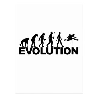 Hurdles Evolution ~ Track and Field Tees B.png Postcard