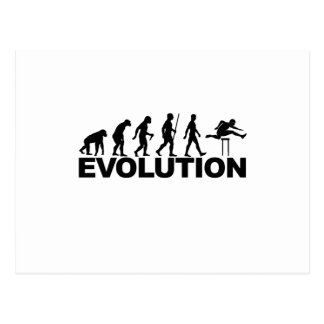 Hurdles Evolution ~ Track and Field Tees B.png Postcard