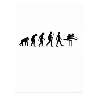 Hurdles Evolution ~ Track and Field Tees.png Postcard