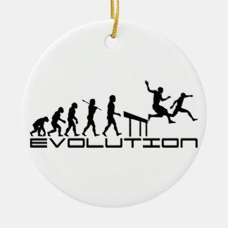 Hurdles Hurdler Sport Evolution Art Christmas Tree Ornaments