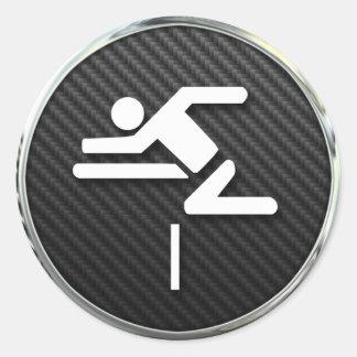 Hurdles Icon Classic Round Sticker