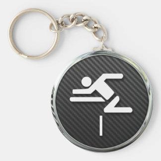 Hurdles Icon Keychain