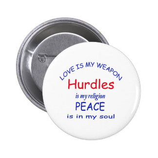 Hurdles is my religion 2 inch round button