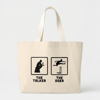 Hurdles Large Tote Bag