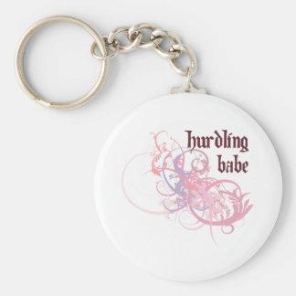 Hurdling Babe Keychain