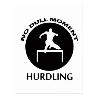 hurdling designs postcard