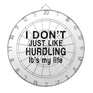 HURDLING IS MY LIFE DARTBOARD WITH DARTS