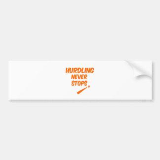 Hurdling Never Stops Bumper Sticker