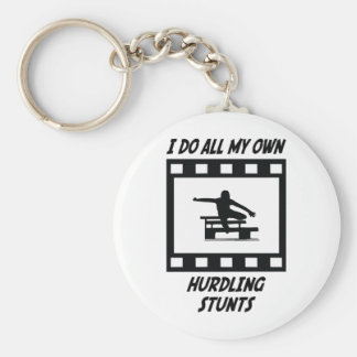 Hurdling Stunts Keychain