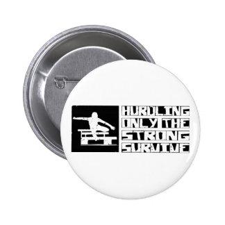 Hurdling Survive Pinback Buttons