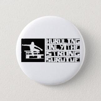 Hurdling Survive Pinback Button