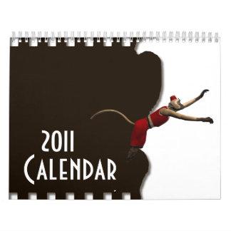 Hurdy Gurdy 3D Music Monkey 10 Calendar