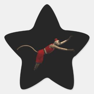 Hurdy Gurdy 3D Music Monkey 10 Star Sticker