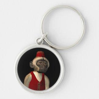 Hurdy Gurdy 3D Music Monkey 11 Keychain