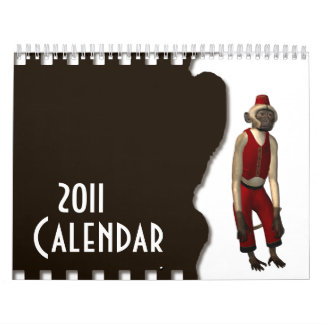 Hurdy Gurdy 3D Music Monkey 11 Calendar