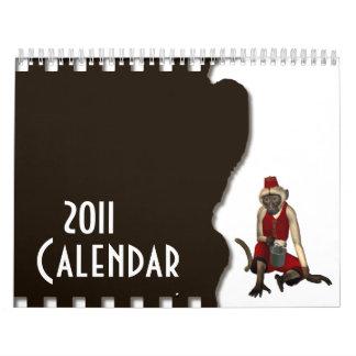 Hurdy Gurdy 3D Music Monkey 12 Calendar
