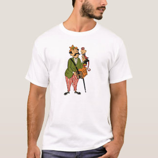 Hurdy Gurdy Man with Monkey and Accordion T-Shirt