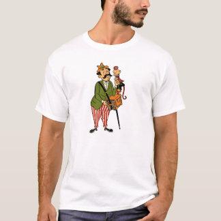 Hurdy Gurdy Man with Monkey and Accordion T-Shirt