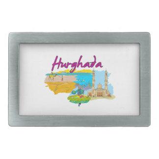 Hurghada - Egypt.png Rectangular Belt Buckles