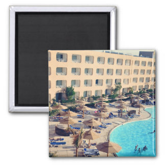 Hurghada hotel resort 2 inch square magnet