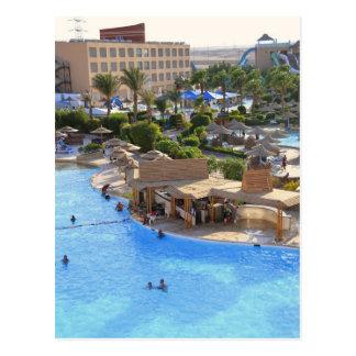 Hurghada hotel resort. postcard
