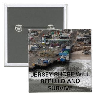Huricane Sandy y reconstrucción de la orilla del j Pin Cuadrado