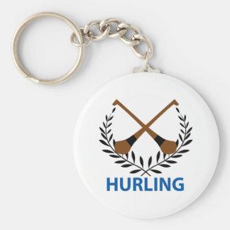 Hurling Crest Basic Round Button Keychain