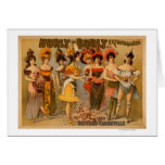 Hurly-Burly Extravaganza and Refined Vaudeville Greeting Card