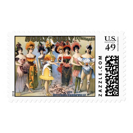 Hurly-Burly Extravaganza and Refined Vaudeville Stamps