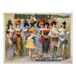 Hurly-Burly Extravaganza and Refined Vaudeville Poster