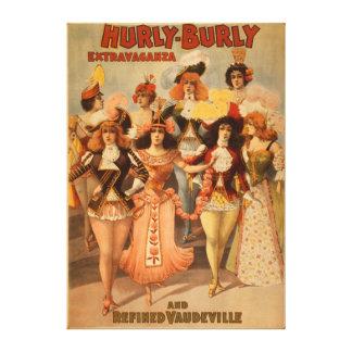 Hurly-Burly Extravaganza Theatre Poster Canvas Print